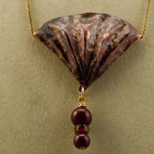 Copper Shell or Fan Pendant