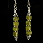 Peridot Rondelle Earrings
