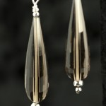 Smoky Quartz Faceted Drop Earrings
