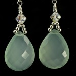 Aqua Chalcedony Brio Earrings