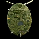 Rainforest Jasper Pendant (30x40mm) in Sterling Setting