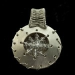Silver and Crystal Round Pendant