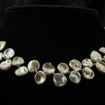 Necklace-large keishi and crystal