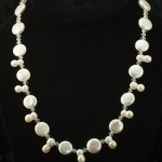 creamy coin pearl and 8 pearl necklace