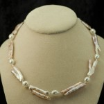 Peachy Branched Pearl Necklace