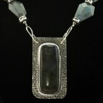 Necklace-labradorite in silver setting
