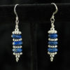 lapis and silver stack earrings