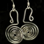 Earrings-flat coiled sterling silver