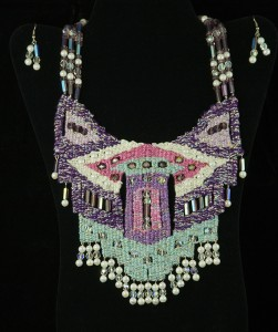 Pastel woven necklace