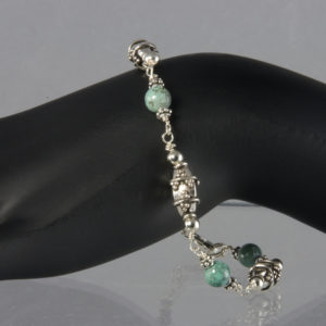bracelet silver and turquoise