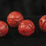 Cinnabar - carved beads