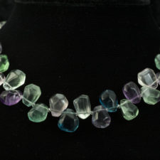 fluorite chunks necklace