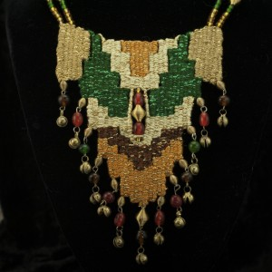 Woven Necklace with Bitty Bells