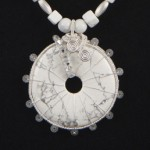 pendant detail - howlite and crystal small