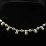 Creamy pearl and dbl pearl necklace