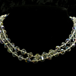 Necklace-double strands of crystals