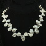 White keishi necklace (ruffled) with crystals_3