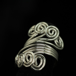 Ring-silver 4 wire spiral ring