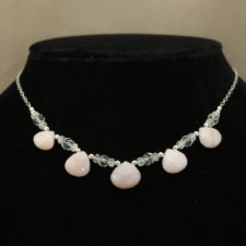Necklace - Peruvian opal moonstone rock crystal