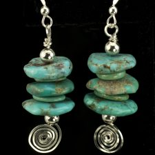 Turquise earrings smaller stack
