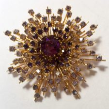 Atomic Sunburst Brooch