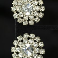 Rhinestone vintage pinwheel earrings