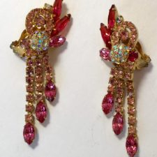 Pink Juliana Rhinestone Earrings
