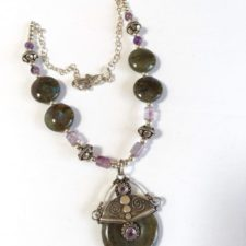 Labradorite necklace and pendant