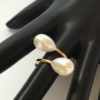 gold pearl bypass ring