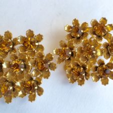 Coro topaz flower earrings