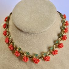 coral celluloid necklace
