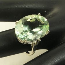 Green Quartz (prasiolite) ring