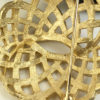 Trifari round basketweave brooch