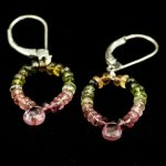 multicolor tourmaline earrings
