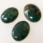 3 bloodstone cabochons