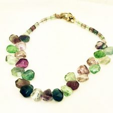 chunky fluorite necklace