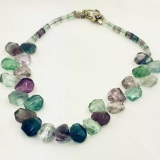 fluorite chunk necklace