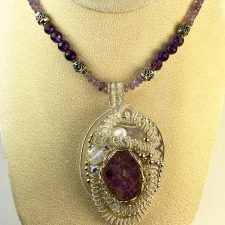 amethyst pendant and necklace