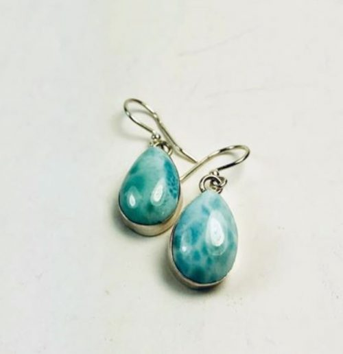 larimar drop dangle earrings