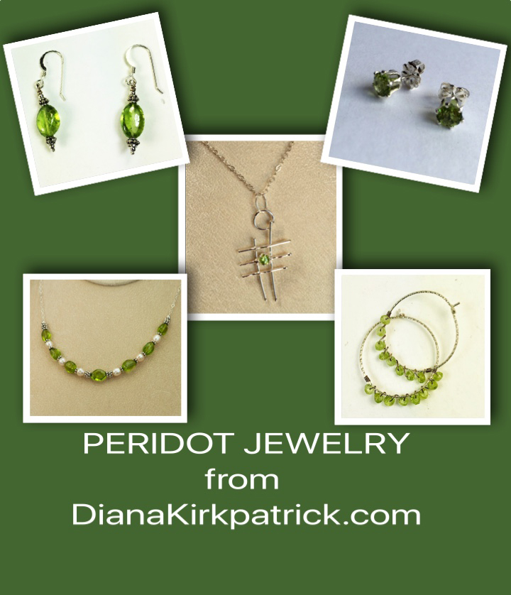peridot jewelry-necklaces-pendants-earrings