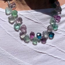 fluorite necklace multicolor
