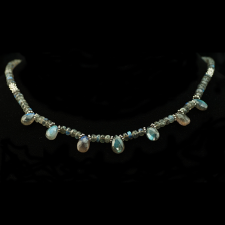Labradorite brio and bead necklace
