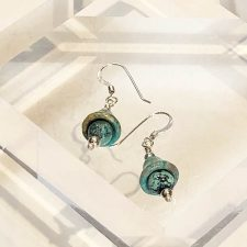 Turquoise bell earrings