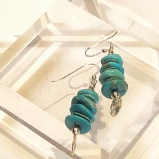 Turquoise stack earrings -3 tier