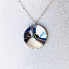 Disc-O pendant 6mm perioot - 1.25 inch across