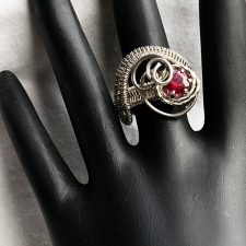 silver wrap ring with ruby