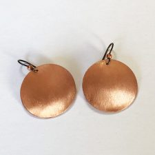 Medium copper brushed finish earrings