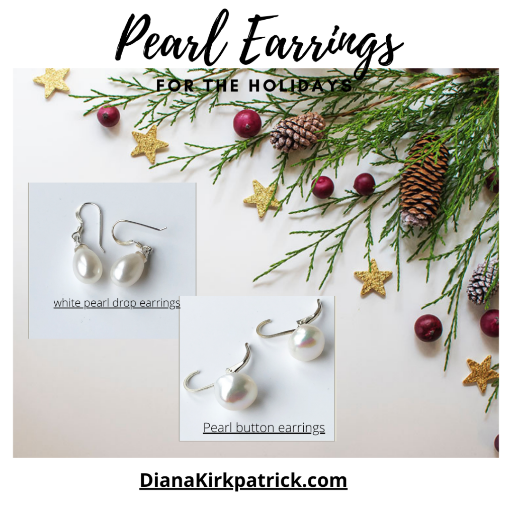 Pearl Earrings for the holidays