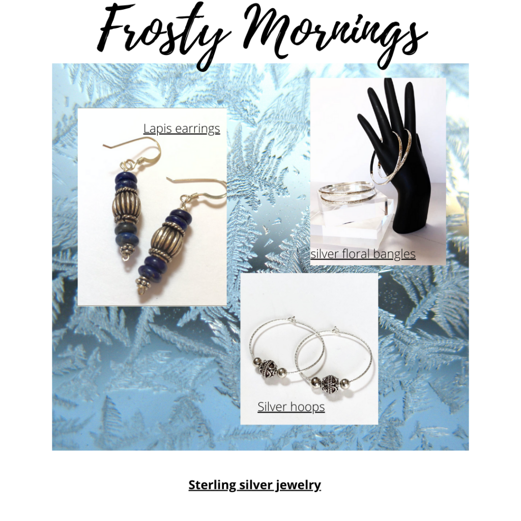 Silver jewelry - earrings and bracelets