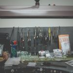 Miscellaneous tools on a Jewelers Bench